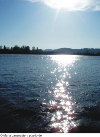 Donau in der Abenddämmerung