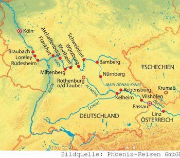 Mit der MS Rhein Prinzessin von Frankfurt nach Passau