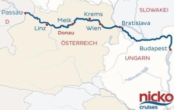 Flusskreuzfahrt Donau nickoVision