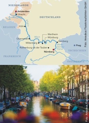 3 Flüsse Kreuzfahrt ab Amsterdam