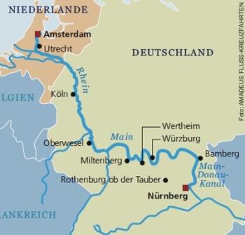 Drei-Flüsse-Kreuzfahrt ab Nürnberg