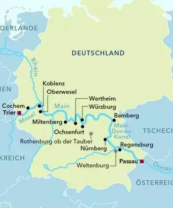 Auf der Donau von Passau nach Budapest