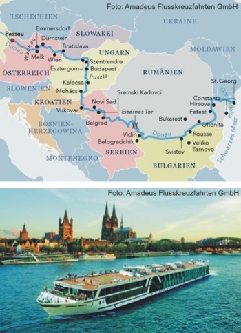 Auf der Donau von Budapest bis Nürnberg
