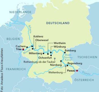 Von Trier nach Passau mit der MS Amadeus Brilliant