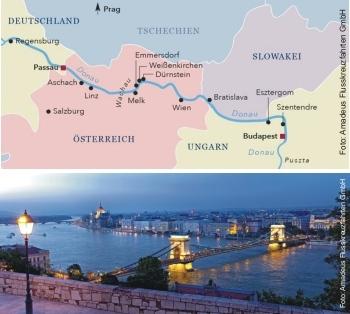 Von Budapest bis Passau mit der MS Amadeus Imperial