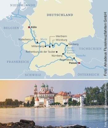 Von Passau nach Köln mit der MS Amadeus Star