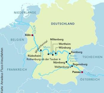 Von Köln nach Passau mit der MS Amadeus Cara