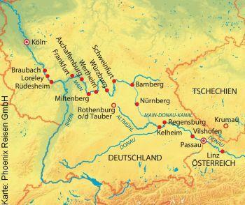 Unterwegs auf Rhein und Donau mit der MS Anna Katharina